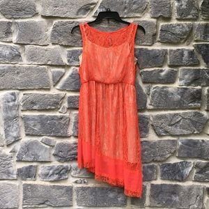 Anthropology RYU Coral Lace dress
